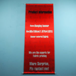 Advertising Plastic Pole Fabric Hanging Banner pictures & photos