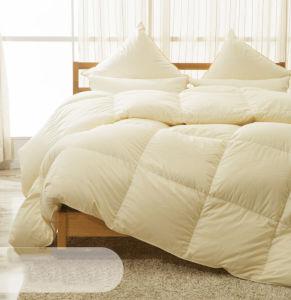 Super Silk Cover 100% White Goose Down Duvet for Home