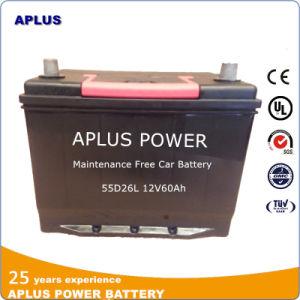 Maintenance Free Lead-Acid Automotive Battery 12V 60ah 55D26L pictures & photos