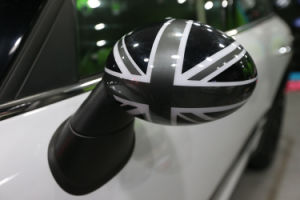 Brand New ABS Plastic UV Protected Sporty Black Union Jack Style Color with High Quality Mirror Covers for Mini Cooper R56-R61 pictures & photos
