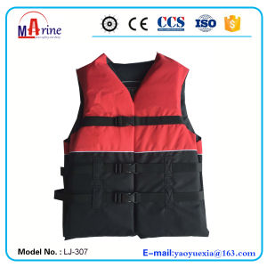 Red and Black Color Swim Vest Life Jackets pictures & photos