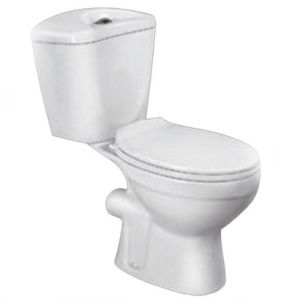 Porcelain White Color Two-Piece Toilets for Bathroom pictures & photos