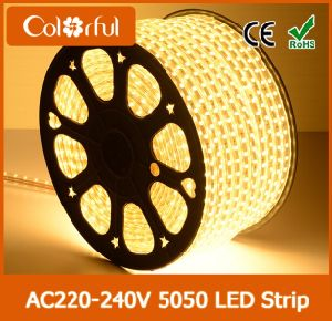 Hot Sale Super Bright High Voltage SMD5050 220V LED Strip pictures & photos