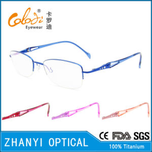 Latest Design Titanium Optical Glasses for Woman (8311)