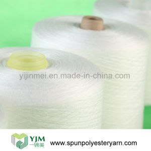 Staple Short Fibre Spun Polyester Yarn for Thread Material pictures & photos