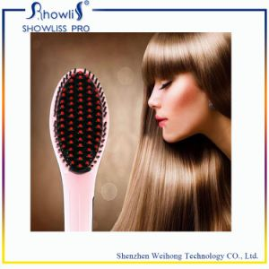 Professional Head Massage Electric Hair Straightener Brush pictures & photos