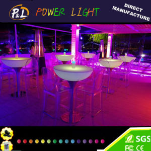 Illuminated Rechargeable 16 Color Changing LED Lounge Furniture Table pictures & photos