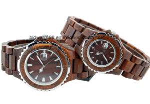 Hand Made Wooden Couple Watch Wood for Lovers Japan Movement Date Function pictures & photos