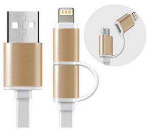 Alloy for Apple Combo Data Cable pictures & photos