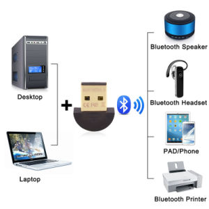 Mini USB Bluetooth Adapter V4.0 CSR Dual Mode Wireless Bluetooth Dongle for Computer pictures & photos