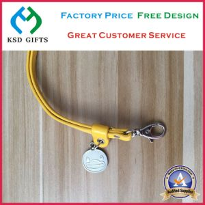 Leather Key Holder with Metal Pendant, PU Lanyard Strap (KSD-1179) pictures & photos