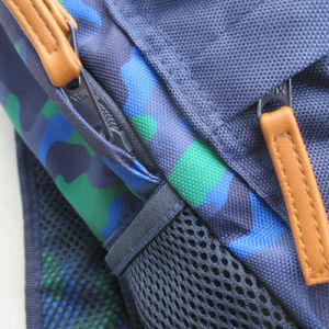 Blue Camouflages Printed Polyester Back to School Backpack for Boy pictures & photos