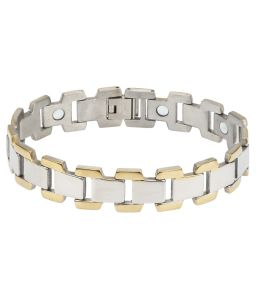 Bio Magnetic Steel Bracelet with Polished Surface Finish pictures & photos