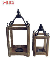Wooden House Lantern for Home Decoration and Gifts pictures & photos