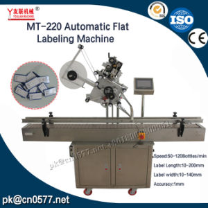 Automatic Box Top Flat Labeling Machine (MT-220) pictures & photos