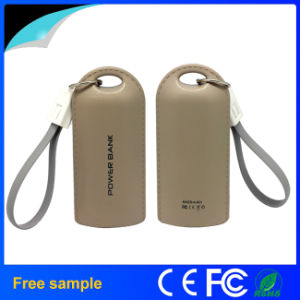 Portable Universal 4400mAh Leather Keychain Power Bank pictures & photos