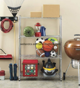New DIY 4 Shelf Steel Wire Shelving Rack Tier Nice Storage for Home pictures & photos