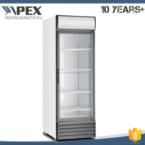 360L Hot Sell Single Door Upright Display Cooler with Ce, CB, RoHS, Meps Certificate pictures & photos