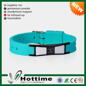 Factory Sale Newest Design Energy Silicone Bracelet with Adjustable Size pictures & photos