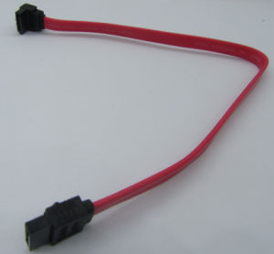 SATA Cable, 7p SATA Two Sides, Right Angle Version pictures & photos