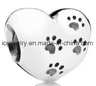Customized 925 Sterling Silver Paw Print Beads pictures & photos