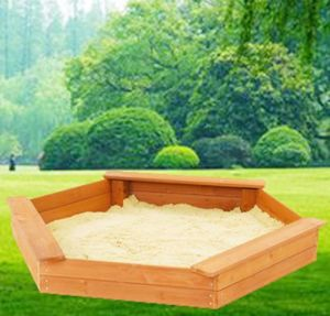 Children′s Hexagon Wooden Playground Sandbox for Kids