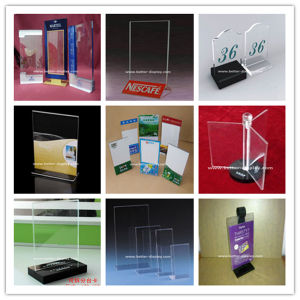 Wholesale Acrylic Table Stand Menu Holder (BTR-N0014) pictures & photos