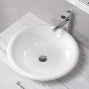 Kingkonree Countertop Acrylic Solid Surface Stone Resin Bathroom Vanity Top Basin pictures & photos