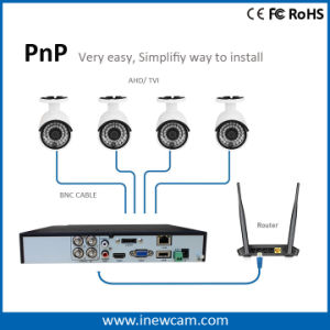 4CH 720p CCTV DVR for Ahd and Tvi Cameras pictures & photos