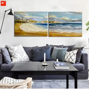 Seaside Wall Art Abstract Dowmtown Oil Painting pictures & photos