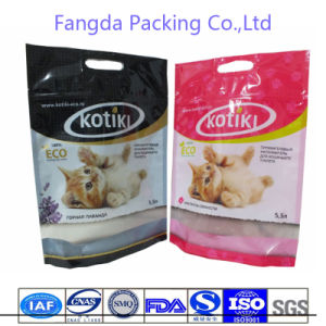 Customized Recycled Zipper Plastic Cat Food Bag