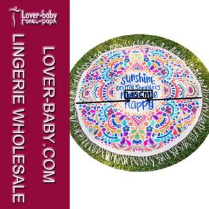 Hippie Round Mandala Tapestry Beach Mat (L38341) pictures & photos