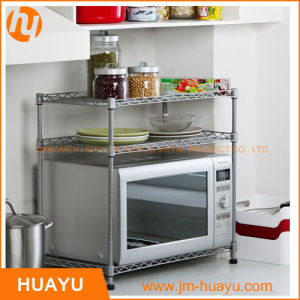 3 Tiers Chrome or Powder Coated Wire Shelving Kitchen Ware Microwave Oven Rack pictures & photos