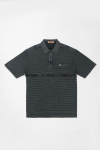 High Quality Slim Intensive Striped Gentle Men Polo Shirt Golf Clothes pictures & photos