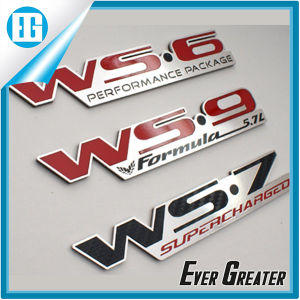 Customized Shiny Aluminum Badges Stickers with 3m Glue Backside pictures & photos