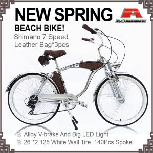 New Spring Beach Cruiser Bicycle Chrome pictures & photos