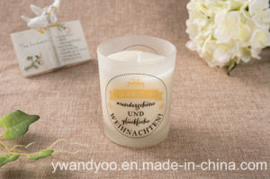 High-End Glass Scented Soy Candle in Yellow Box