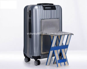 ABS PC Wheeled Trolley Bag Case with Small Seat (CY3407) pictures & photos