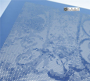Blue Kynar Coated Perforated Aluminum Panels pictures & photos
