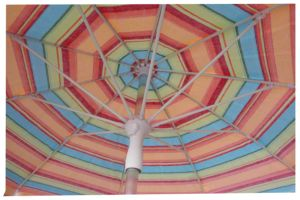 6.5FT Beach Umbrella, TNT Fabric, , Fiberglass Rib, Alu Pole Rame pictures & photos