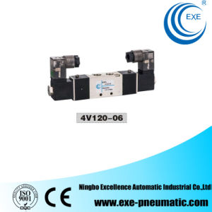 Exe 5/2 Way Aluminum Pneumatic Double Head Solenoid Valve 4V120-06 pictures & photos