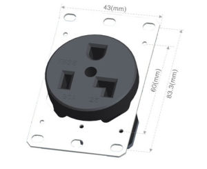 042053001 NEMA American industrial socket pictures & photos