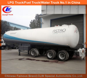 Liftable Front Axle Trailer for 50m3 Bulk LPG Transport Tank pictures & photos