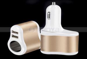 Multiplier in-Car 1 to 3 Sockets Dual USB Ports Car Cigarette Lighter DC 12V/24V Car Charger Splitter pictures & photos