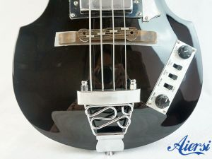 Black Colour Arch Body 4-String Violin Electric Bass for Sale pictures & photos