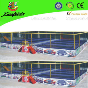 Eight Bed Tramoline with Safety Net pictures & photos