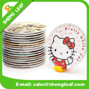 Householder Custom Cartoon Colorful Silicone PVC Coaster (SLF-RC020) pictures & photos