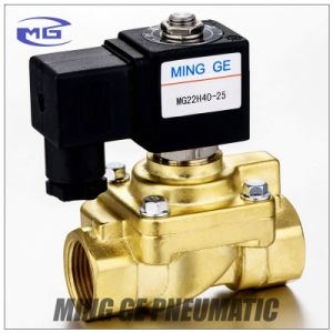 """2 Way Pneumatic High Pressure Solenoid Valve (40bar DN25 G1"""", 321H35, Normally closed)"""