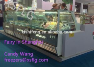 Gelato Dipping Case /Hard Ice Cream Display Freezer pictures & photos