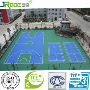 Guangzhou Rubber Covering Basketball Flooring Sport Surface Prices pictures & photos
